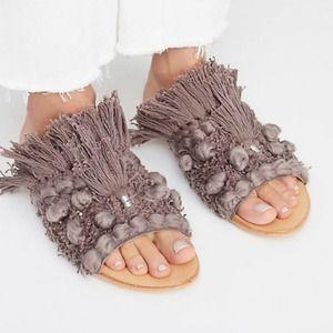 NIB Free People Mars At Night Slide Sandals